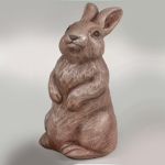 The Backyard Naturalist has a selection of Garden Statuary that includes 'Small Sitting Rabbit' with detail stain.