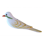The Backyard Naturalist has Gary Starr's hand carved and painted wild bird ornaments, including Doves of Peace