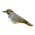 The Backyard Naturalist has Gary Starr's hand carved and painted wild bird ornaments, including Northern Flicker