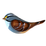 The Backyard Naturalist has Gary Starr's hand carved and painted wild bird ornaments, including White-throated Sparrow