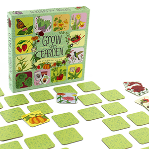 The Backyard Naturalist's has matching and memory games for kids, including Grow a Garden game.