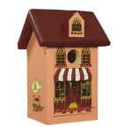 "The Backyard Naturalist's hand painted bird house 'Café Bistro' is made by Pennsylvania Dutch of untreated first quality 3/4"" pine, covered with two coats of durable, outdoor sealer and is easily accessible for cleaning and maintenance."
