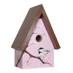 "The Backyard Naturalist's hand painted bird house 'Chickadee Blossoms' is made by Pennsylvania Dutch of untreated first quality 3/4"" pine, covered with two coats of durable, outdoor sealer and is easily accessible for cleaning and maintenance."