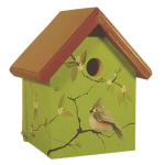 "The Backyard Naturalist's hand painted bird house 'Titmouse' is made by Pennsylvania Dutch of untreated first quality 3/4"" pine, covered with two coats of durable, outdoor sealer and is easily accessible for cleaning and maintenance."