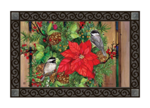 he Backyard Naturalist Holiday Flag Selection for 2020 includes 'Chickadee Greeters' door mat