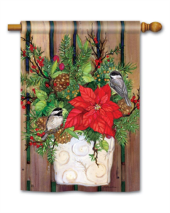 he Backyard Naturalist Holiday Flag Selection for 2020 includes 'Chickadee Greeters' standard house flag ''