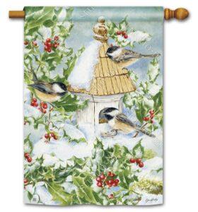 he Backyard Naturalist Holiday Flag Selection for 2020 includes 'Chickadee Welcome'  standard house flag