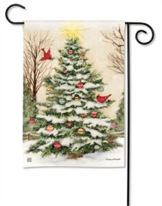 The Backyard Naturalist Holiday Flag Selection for 2020 includes Outdoor Christmas Tree Decorated and Cardinals