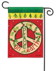 The Backyard Naturalist Holiday Flag Selection for 2020 includes Peace on Earth with peace sign yard flag