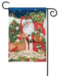 The Backyard Naturalist Holiday Flag Selection for 2020 includes 'Christmas Magic' yard flag