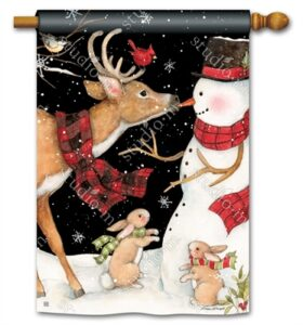 The Backyard Naturalist Holiday Flag Selection for 2020 includes Birds, Reindeer, Rabbits and Snowman