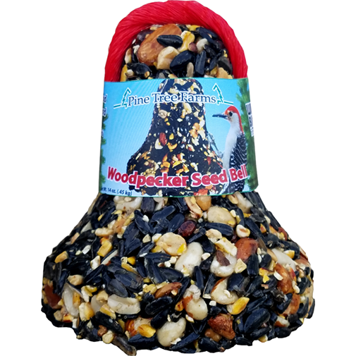 The Backyard Naturalist stocks Wild Bird Food Bells in a variety of Nuts, Seeds and Dried Fruits, including the Woodpecker Seed Bell.