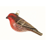 The Backyard Naturalist has Cobane Glass BIrd Holiday Ornament, House Finch