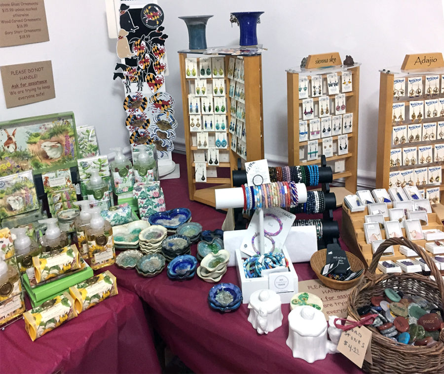 The Backyard Naturalist has Adajio and Sienna Sky earrings, among other jewelry including semi-precious gemstone bangles and more