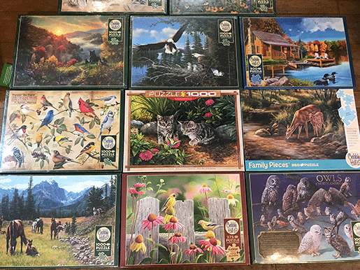 Jigsaw Puzzles for Home Delivery from The Backyard Naturalist store.