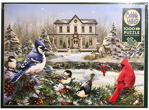 TheBYN has 1000 piece family jigsaw puzzles, including 'Country House Birds'.