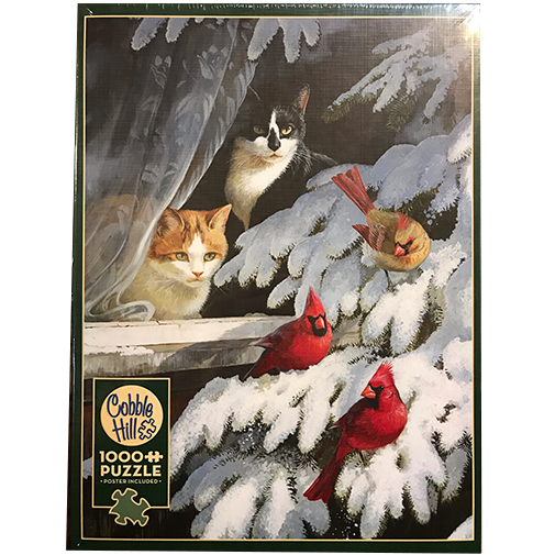 TheBYN has 1000 piece family jigsaw puzzles, including 'Bird Watchers'.