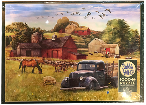 TheBYN has 1000 piece family jigsaw puzzles, including 'Summer Afternoon on the Farm'.
