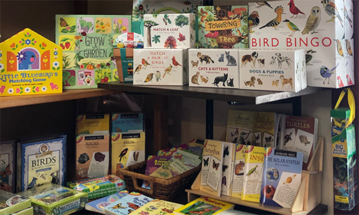 The Backyard Naturalist, in Olney Maryland, has nature-themed games, puzzles, books and more for children.