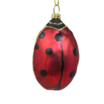 The Backyard Naturalist has Cobane Glass BIrd Holiday Ornament, Lucky Ladybug