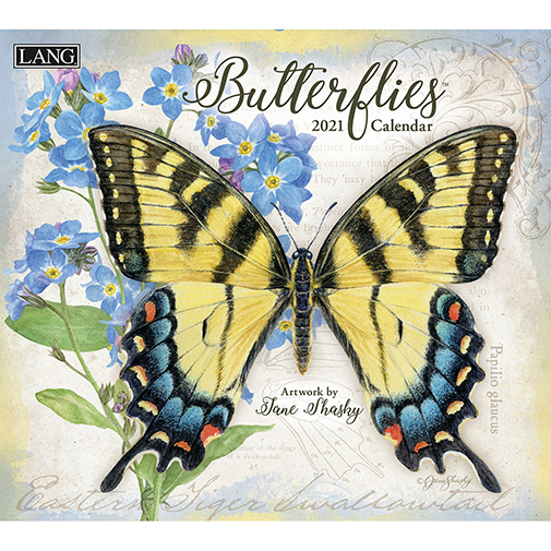 The 2021 Lang Butterflies Wall Calendar is now in stock at The Backyard Naturalist.