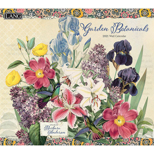 The 2021 Lang Garden Botanicals Wall Calendar is now in stock at The Backyard Naturalist.