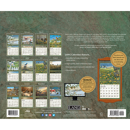 The 2021 Lang Meadowland Wall Calendar is now in stock at The Backyard Naturalist. (back)