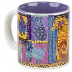 "The Backyard Naturalist has Laurel Burch illustrated mug ""Dog Tails Patchwork"" in stock now."