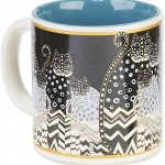 "The Backyard Naturalist has Laurel Burch illustrated mug ""Polka Dot Gatos"" in stock now."
