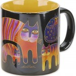 "The Backyard Naturalist has Laurel Burch illustrated mug ""Fantastic Feline Totem"" in stock now."