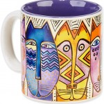 "The Backyard Naturalist has Laurel Burch illustrated mug ""Tribal Felines"" in stock now."