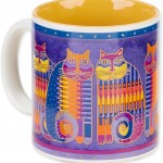"The Backyard Naturalist has Laurel Burch illustrated mug ""Rainbow Cat Cousins"" in stock now."
