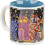 "The Backyard Naturalist has Laurel Burch illustrated mug ""Family Feline Portrait"" in stock now."