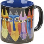 "The Backyard Naturalist has Laurel Burch illustrated mug ""Tribal Cats"" in stock now."