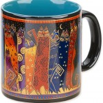 "The Backyard Naturalist has Laurel Burch illustrated mug ""Santa Fe Felines"" in stock now."