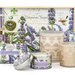 The Backyard Naturalist stocks Michel Design Works 'Lavender Rosemary' lotions, soaps and candles.
