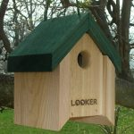 The Backyard Naturalist stocks biologically species correct bird houses in a variety of styles, like this Lifting Roof Wren House, made by Looker.
