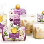 The Backyard Naturalist stocks Michel Design Works 'Lilac and Violets lotions, soaps and candles.