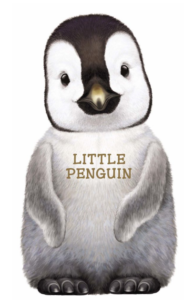 The Backyard Naturalist has the Little Baby Animal puppet board book series in stock, including 'Baby Penguin'.