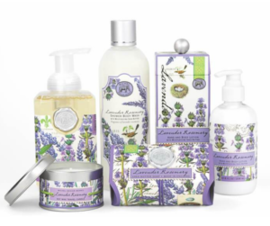 New at TheBYN, Michel Design Works new collection for 2020, Lavender Rosemary scented soaps lotions and candles
