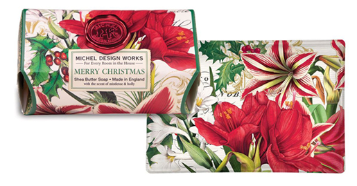 The Backyard Naturalist has Michel Design Works Holiday 2020 'Merry Christmas' scented soaps, lotions and candles