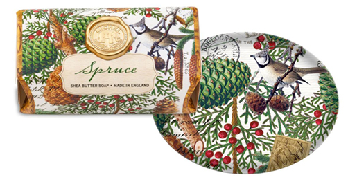 The Backyard Naturalist has Michel Design Works Holiday 2020 'Spruce' including Soap Bar and Dish