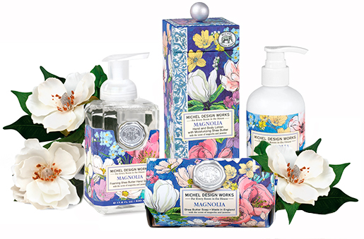 The Backyard Naturalist has Michel Design Works new scent for Spring 2021: Magnolia.