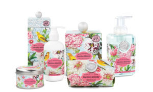 The Backyard Naturalist carries the Michel Design Works line, including the Garden Melody Collection.