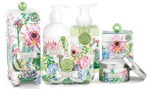 The Backyard Naturalist carries the Michel Design Works line, including the Pink Cactus Collection.