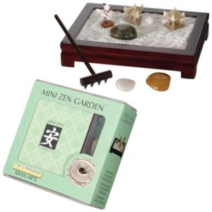 The Backyard Naturalist Mini Zen Garden kit. Create a peaceful meditation space on your desktop or coffee table.