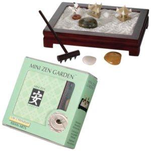 The Backyard Naturalist Mini Zen Garden kit. Create a peaceful meditation space on your desktop or coffee table.