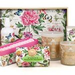 The Backyard Naturalist stocks Michel Design Works 'Peony' lotions, soaps and candles.