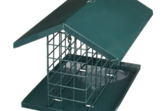 Large Wire Suet Feeder with Roof and Platform