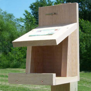 The Backyard Naturalist has Roosting boxes for Robins, like this one, 'Robin Roost' in natural cedar.